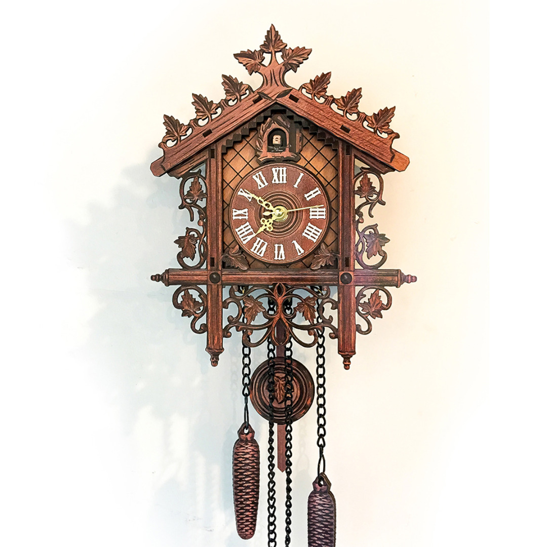 Affordable Cuckoo Clocks 1pc Retro Vintage Wall Clock Hanging Handcraft Wooden