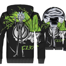 2018 New Fashion Autumn Winter Zipped Coat Hooded Hoody 3D Anime Sweatshirts For Men RICK AND MORTY Men's Hoodies Hip Hop Jacket new fashion men hoody jacket printed zipper sweatshirts casual hooded pullover autumn and winter coat