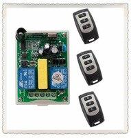 AC 220V 2 CH Wireless Remote Control Switch 1 Receiver 3 Transmitter Tubular Motor Ac Motor