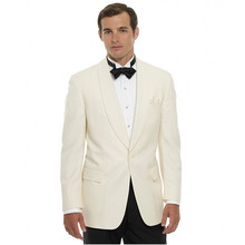 Custom Made New Style Groomsmen Shawl Lapel Groom Tuxedos One Button Men Suits Wedding Best Man (Jacket+Pants)