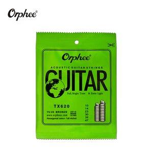 Image 2 - Freies verschiffen 10 stücke orphee gitarre saiten TX620/TX630/TX640 akustische gitarre saiten Extra Licht
