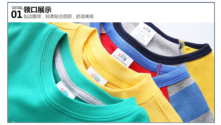 2018 Spring Autumn For 2-9 10 Years Children Cotton Striped Patchwork Cartoon Car Bus Truck Baby Kids Boys Long Sleeve T Shirts (54)