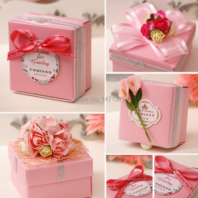 2016 Wedding Gifts Bo New Handmade Paper Box Candy Elegent Flower Favor With Ribbon Decoration Sweet Supplies On Aliexpress Alibaba