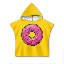 Dessert donut Milk Hooded baby Boys and Girls Towel Wearable Bath For Kids Travel 3D print Beach Towels style-3