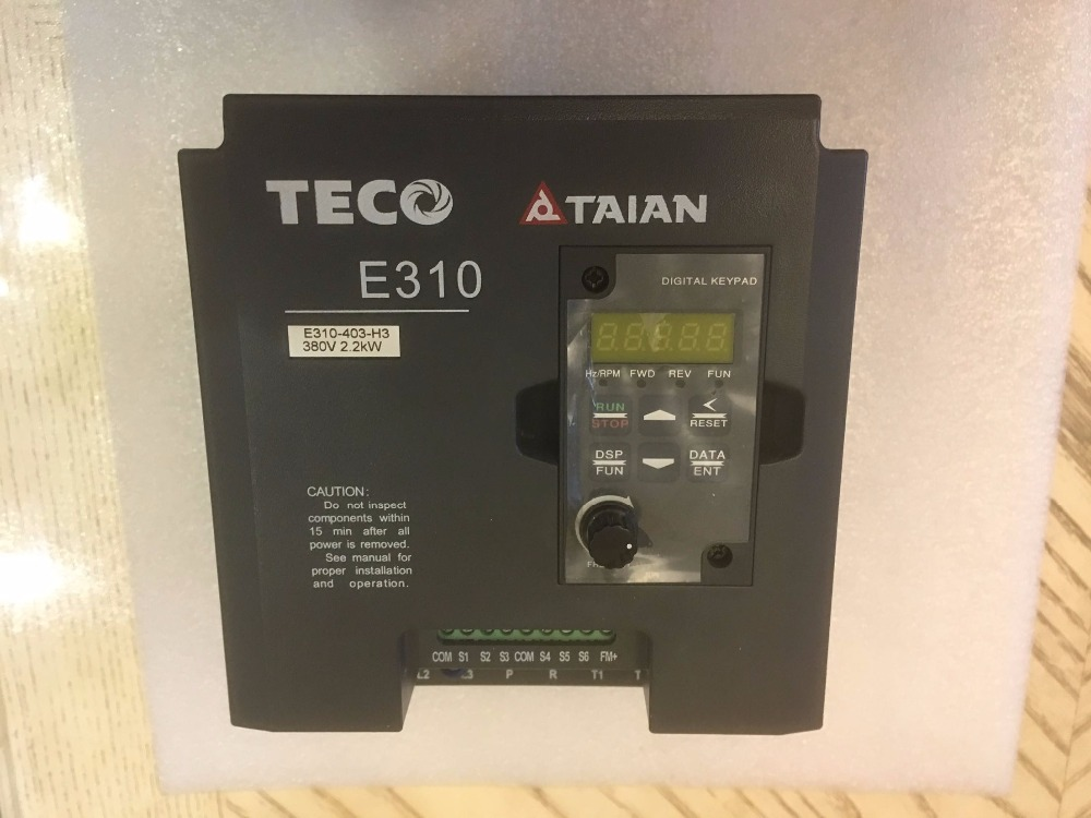 TECO AC Motor Drive Inverter E310-403-H3 2.2KW  3HP E310 Series 3 phase 380~480V 50/60Hz teco drive inverter n310 4008 s3x 7 5hp 5500w 3 phase 380v 480v hot selling