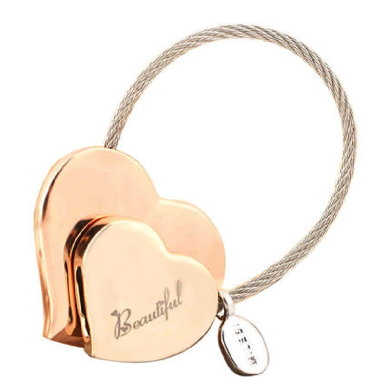 Milesi - Nytt presentmärke Hjärta Nyckelring Nyckelring Trinket Bilnyckelhållare Ringar för kvinnor Nyhet present innovativa artiklar väska hänge