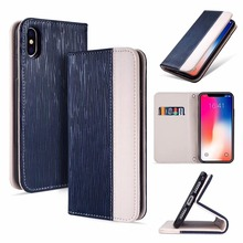KINGMAS holster silk magnetic flip wallet case for iPhone XR XS XS MAX silicone case with stand card pocket phone case