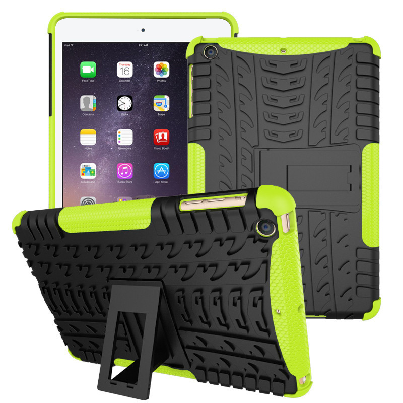 Case for iPad Mini 2, Shockproof Heavy Duty Stand Back Cover Cover For iPad Mini 1 2 3 Tablet Case with Kickstand