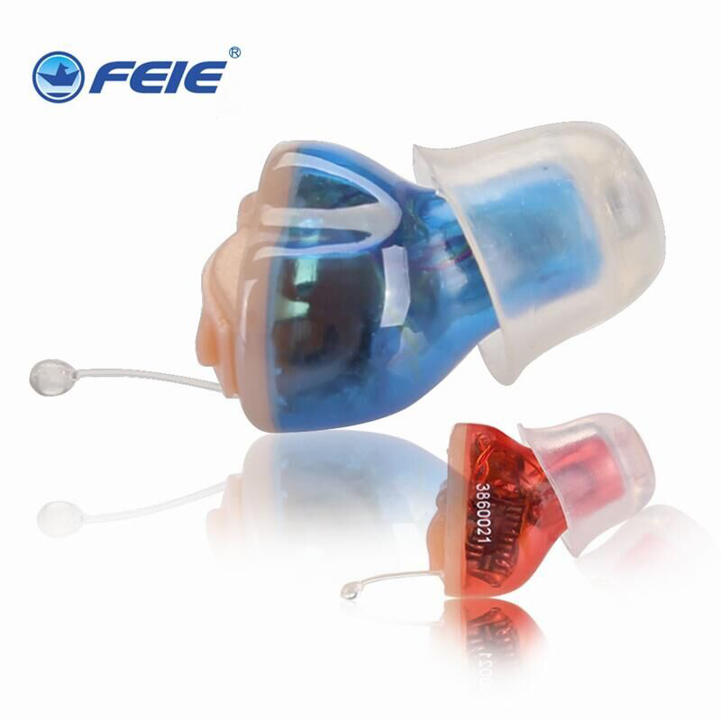 Feie Noise Reduce Amplifier Mini Digital CIC Invisible Hearing Aids Hearing Loss Present S-13A With Three Size Earplugs 2017 new technology feie digital hearing aids in the ear canal with noise reduction s 16a free shipping