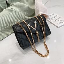 2019 New Luxury Tassel Handbags Womens Bag Designer Strap Flap Ladies Leather Chain Rank Messenger Crossbody Bags For Women