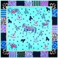 130cm * 130cm brand silk twill scarf bufandas Trojan rotating square scarves shawls foulard women