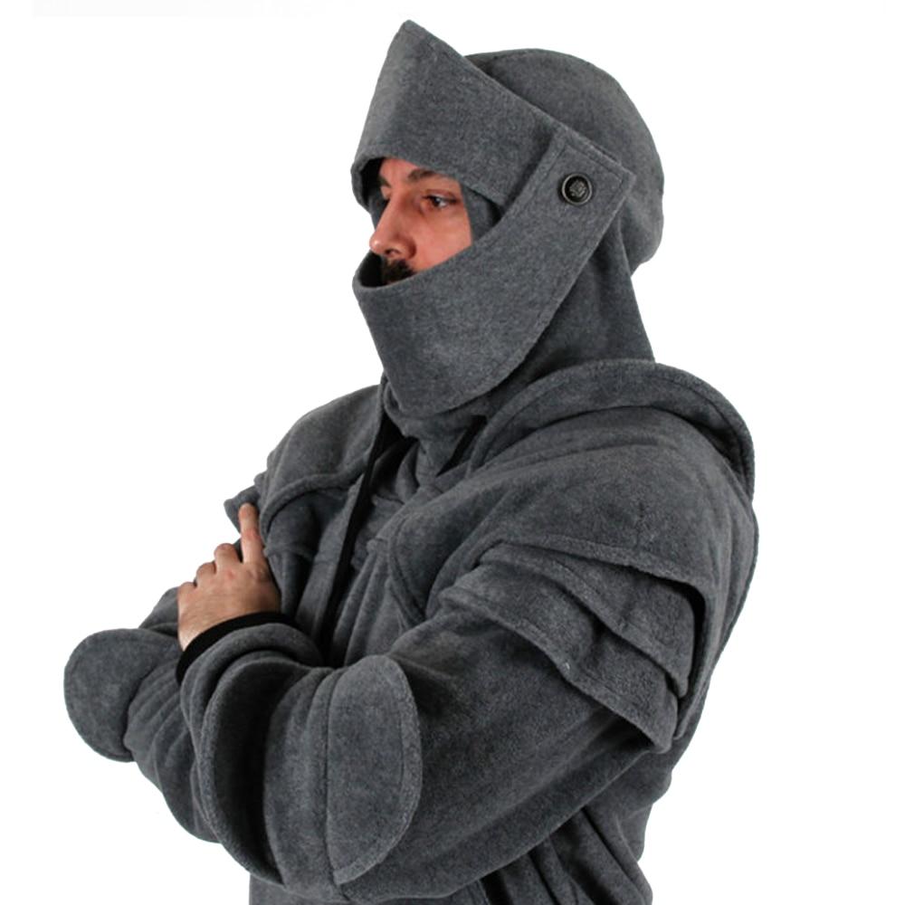 SOLEDI Knight Clothing Autumn Knight Retro Sports Fleece Travel Cosplay Street Snap Hallowmas