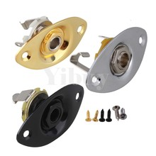3 pcs Oval Indented Jack Plates Mono & Socket for Electric Guitar