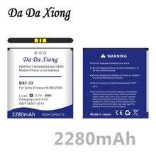 Da Xiong 2850mAh BST-33 BST 33Battery for Sony Ericsson G900 M600 W880 P990 K550C w395c K800 U10I W610 W660 V800 C702 C901
