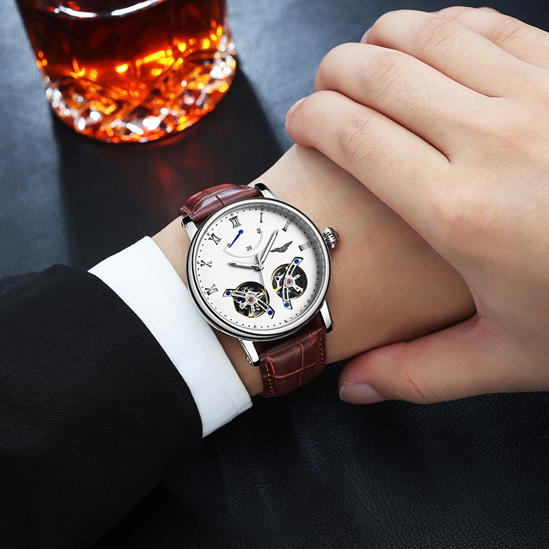 Double Tourbillon Automatic Watch Men Big Dial Mens Mechanical Watches Top Brand Luxury Clock GUANQIN Wristwatch reloj hombre Double Tourbillon Automatic Watch Men Big Dial Mens Mechanical Watches Top Brand Luxury Clock GUANQIN Wristwatch reloj hombre