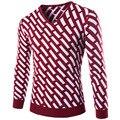 2015 New England Мужчины Тонкий Воротник Пуловеры Взрыв Свитер Бэк-Мода Бесплатная Доставка