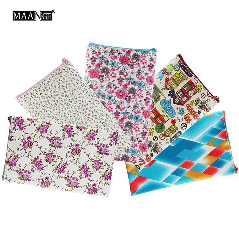 Impressão Sacos De Maquiagem Com Padrão Multicolor Cosméticos Pouchs Para Senhoras Bolsa Das Mulheres Saco de Cosmética Recipiente Pacote de Viagem