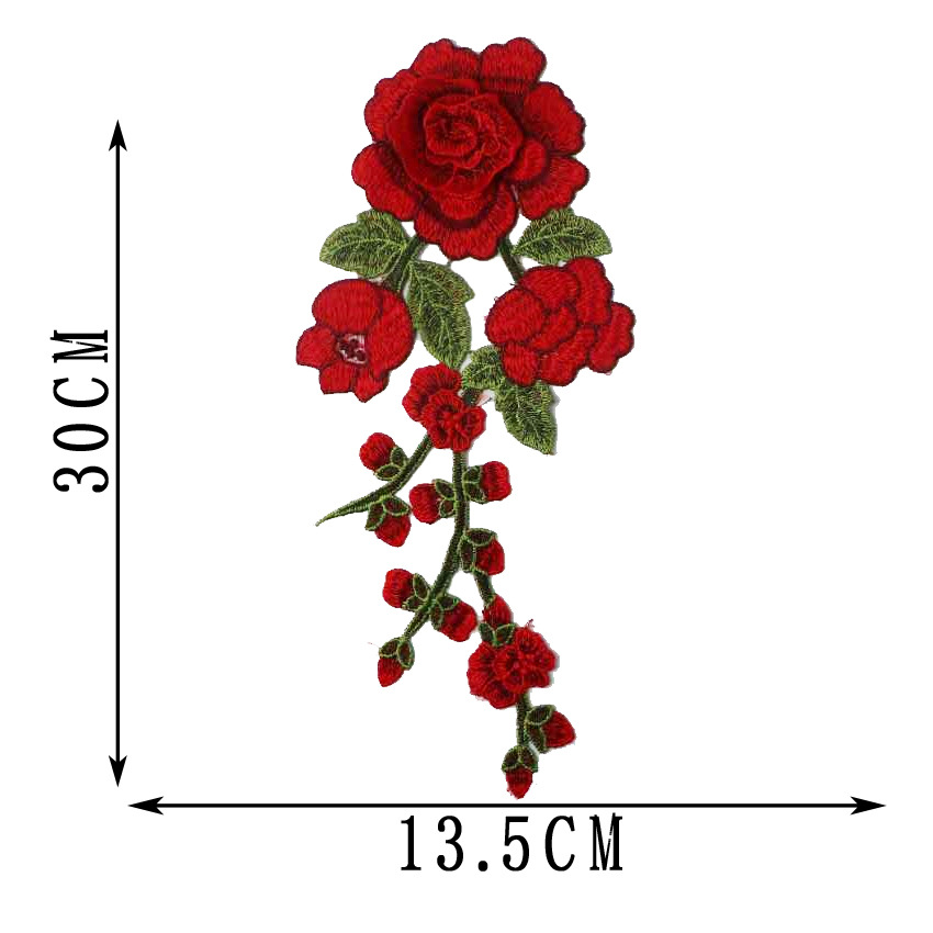2019 New Fashion DIY Applique Water Soluble Embroidery  Costume Decoration Jeans Patch  Decals  Accessories