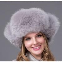 JKP hot warm autumn and winter female Fox fur bomber hat snow cap fur women's hat ladies leather ear caps HJL 04