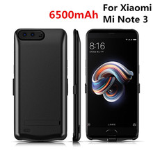 6500mAh for Xiaomi Mi Note 3 Portable Mobile Power Bank Charging Box Battery Case Charger Shell Power Bank Bracket Back Cover