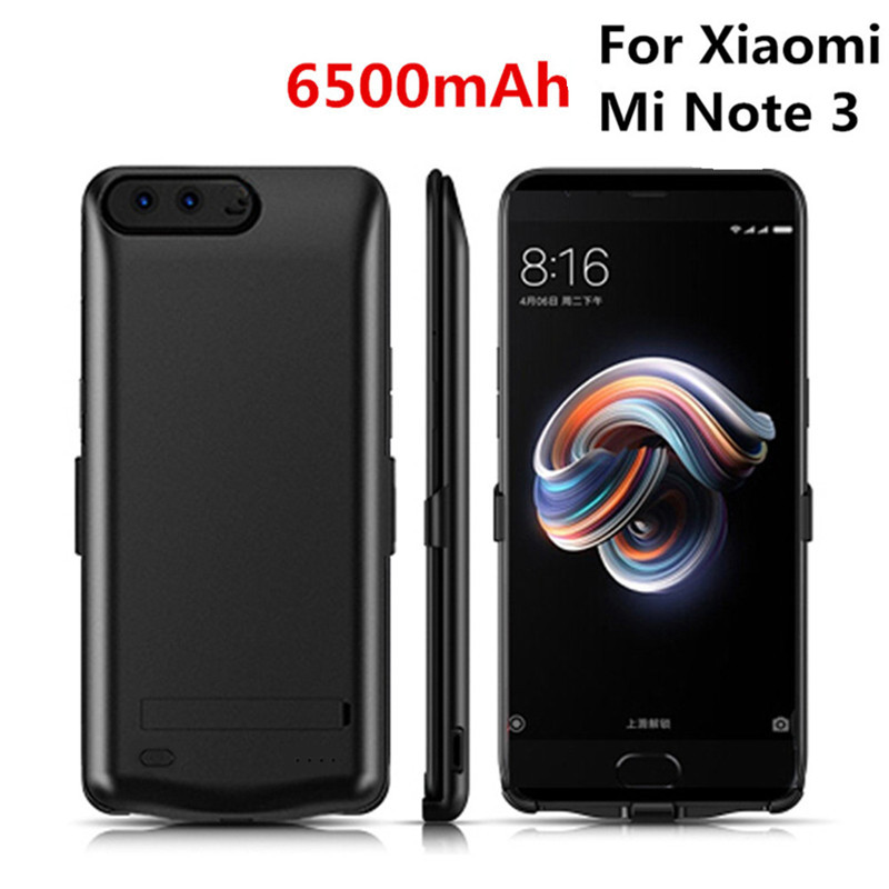 6500mAh for <font><b>Xiaomi</b></font> <font><b>Mi</b></font> <font><b>Note</b></font> <font><b>3</b></font> Portable Mobile Power Bank Charging Box <font><b>Battery</b></font> <font><b>Case</b></font> Charger Shell Power Bank Bracket Back Cover image