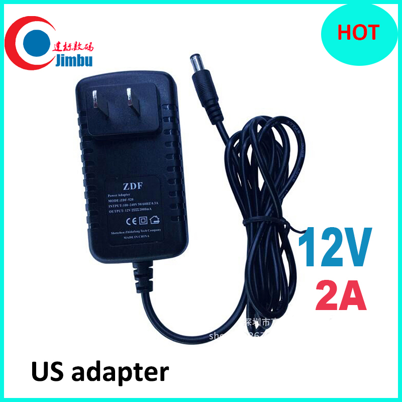 US Type Adapter DC 12V 2A CCTV Security Camera Power Supply US Plug Power Adapter black color цена 2017