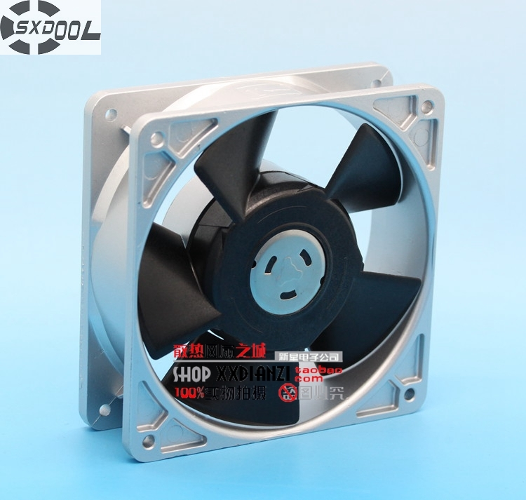 SXDOOL cooling fan 120mm P120DH10-G3 12038 120mm 12cm AC 100V 15/14W aluminum frame cooler original delta afc1212de 12038 12cm 120mm dc 12v 1 6a pwm ball fan thermostat inverter server cooling fan