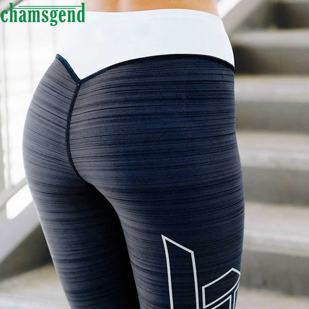 CHAMSGEND Yoga leggings Fashion Print  Push Up Sports Pants Sportswear Women High Waist Fitness yoga Leggings for droshipping 09