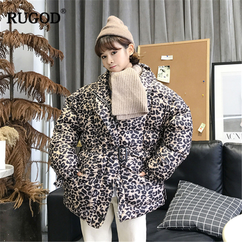 Invierno Léopard Longues Lady Mujer Épais Office Manches Manteau Kaki Hiver Rugod Casual Femmes Automne 2018 À Ropa 8nqwH47ZP