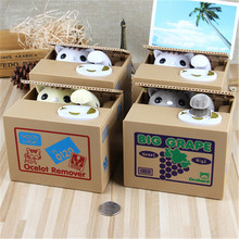 Automated Cat Steal Coin Bank 1PCS Piggy Bank Moneybox Money Saving Box Gifts Digital Coin Jar Alcancia Cofre Electronic Pets