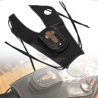 1pcs Black Motorcycle Leather Right Tank Cap Panel Cover Bag Tank Bags For Honda Shadow VT750 C2 C4 RC50 RC53 2004 2011