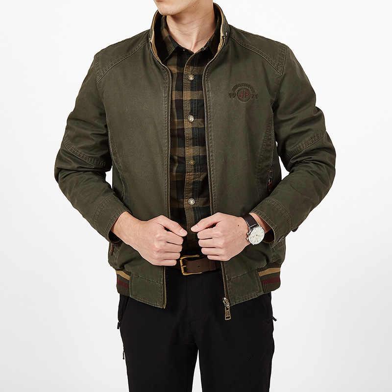 Фирменная одежда, пиджак мужские осенние пальто Мужская куртка милитари двухсторонняя свободная Jaqueta Masculina из чистого хлопка плюс Размер 7XL 8XL