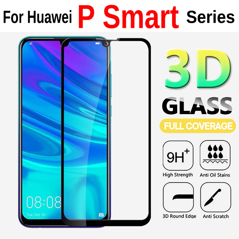 3D Glass For Huawei P Smart 2019 Screen Protector Protective Glass On The For Huawei P Smart Plus Psmart Plus Tempered Glass