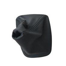 Автомобильный рычаг переключения передач ручной переключения ботинок черный кожаный ботинок с пластиковой рамкой для BMW E30 E36 E39 E46 E81 E82 E87 E88