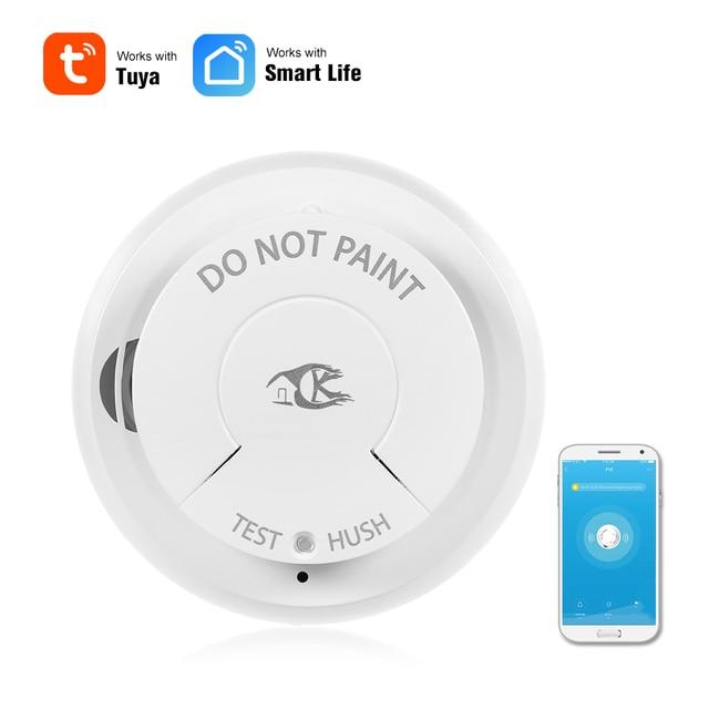 Wifi Smoke Detector Smart Fire Alarm Sensor Wireless Security System Smart Life Tuya APP Control Smart Home