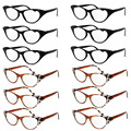 Women Rhinestone Cat Eye Sexy Vintage Style Clear Lens Reading Glasses