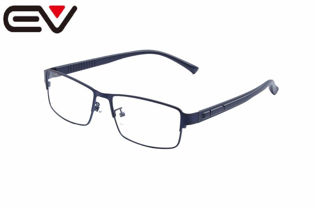 EV2017 Men Super Large Wide Oversized Full-Rim Metal Business Glasses Frames Eyeglasses Frames 59-18-145mm Oculos De Grau EV1452