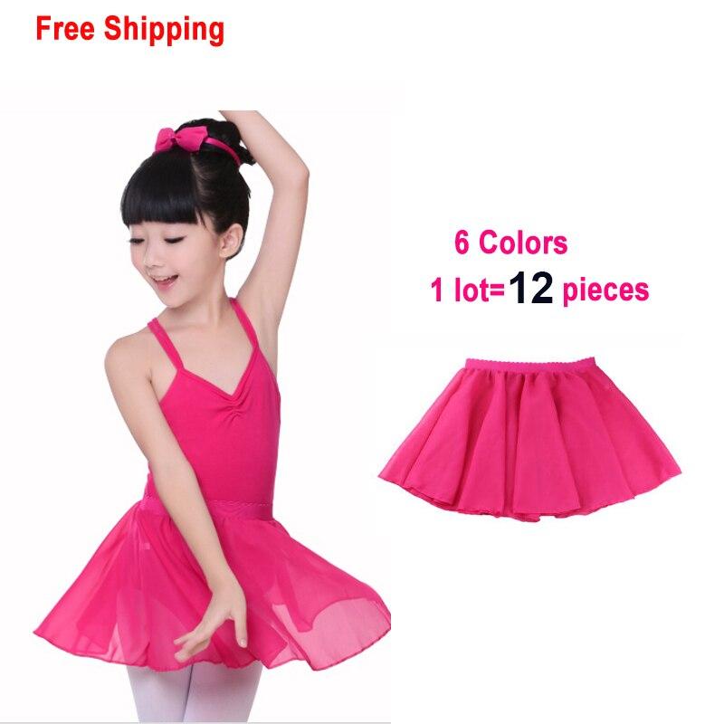 Summer Kids Elastic Waist Chiffon Skirt Children Girls Ballet Dance Tulle Skirt Discount