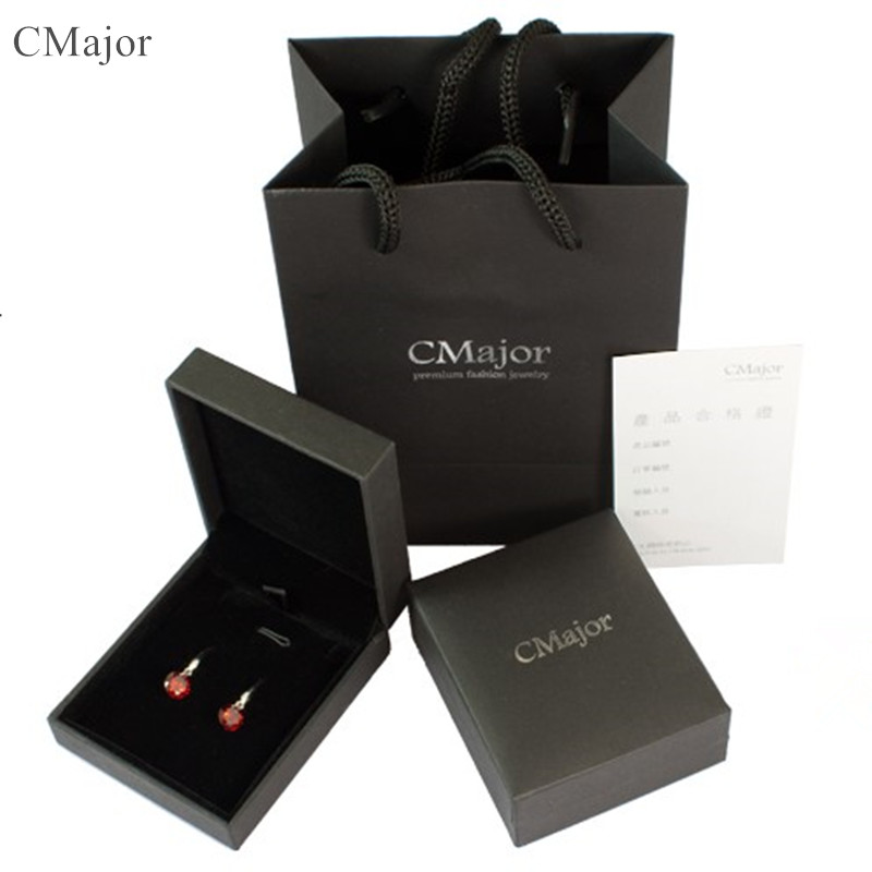 CMAJOR High Quality Black Gift Box & Gift Bag for Earrings & Necklaces Luxury Jewelry Packaging set