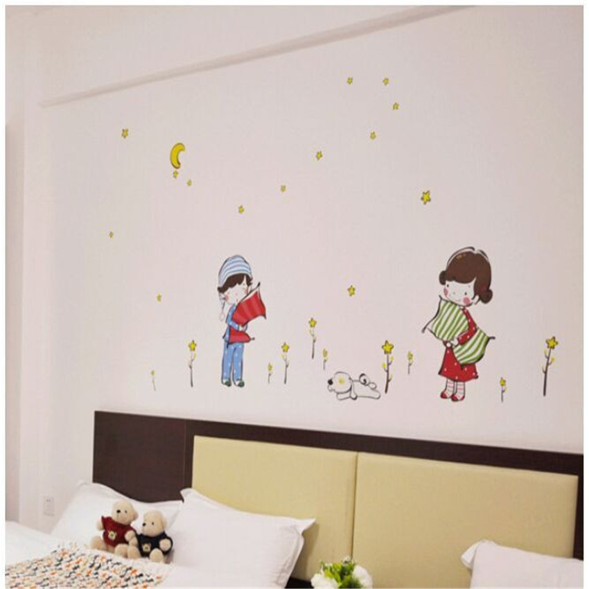 Diy Wall Sticker Goodnight Muursticker Cartoon Kids Wall Stickers