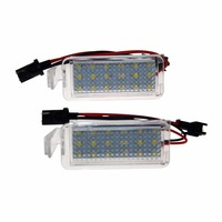 2x Error Free 18 3528 SMD LED License Number Plate Lamps Car Light Auto Accessories Fit