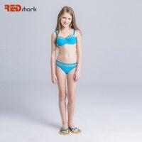 REDshark 2017 Wakacyjnej dzieci Strój Kąpielowy Dziewczyny Bikini Set Śliczne Dwa Kawałki swimsuit Plaża Stroje Kąpielowe Dla Dzieci Dziecko Pływać Garnitury