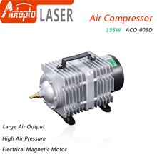 135W Air Compressor Electrical Magnetic Air Pump for CO2 Laser Engraving Cutting Machine ACO-009D air pump air compressor 35w 40l electromagnetic air pump for laser cutting machine