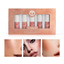 5pcs Lip Tint Set Moisturizing Lip Gloss Long Lasting Liquid Blusher Makeup Matte Lipstick Liquid Lips Kit Cosmetics все цены