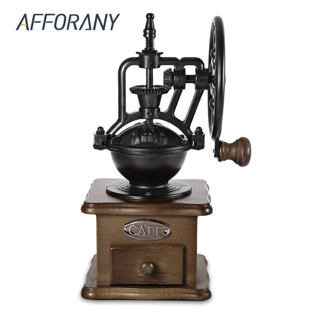 Afforany Retro Manual Coffee Grinder Hand Grinding Machine Coffee