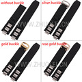 20mm*10mm(lug)  Rubber Strap Watch Band 21 Chronoscaph Stainless Steel End Links stainless Steel Deployment Watch Buckle Clasp