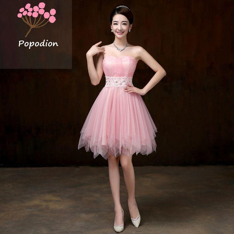 Tienda Online Violeta vestidos de dama de honor sin tirantes Vestido ...