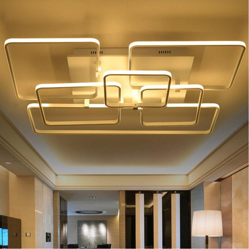 2017 Modern Fashion 3 4 6 Heads Acrylic Rectangular Lights Lustre