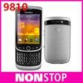 9810 original de blackberry torch 9810 gps wifi 5mp java del teclado qwerty abrió el teléfono móvil