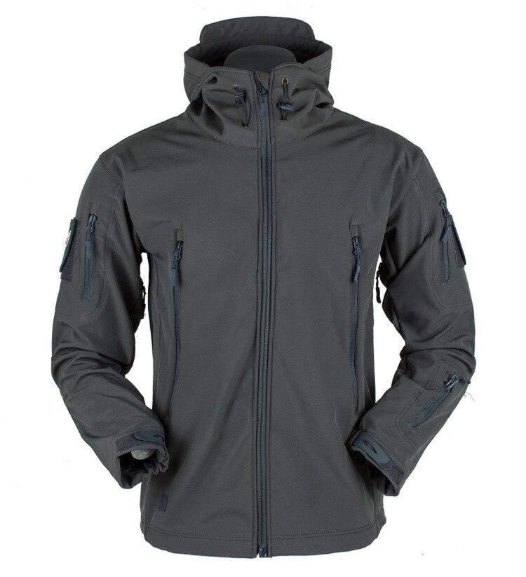 Военная ветрозащитная тактическая флисовая куртка из кожи акулы, Мужская водонепроницаемая армейская мягкая куртка, ветровка, дождевик, походная куртка